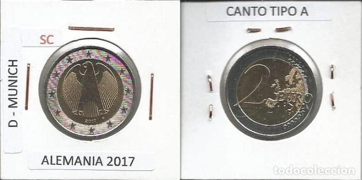 ALEMANIA 2017 - 2 EURO - CECA D - SC (Numismática - España Modernas y Contemporáneas - Ecus y Euros)