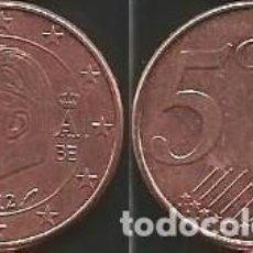 Euros: BELGICA 2012 - 5 CENT - CIRCULADA EBC. Lote 195238550