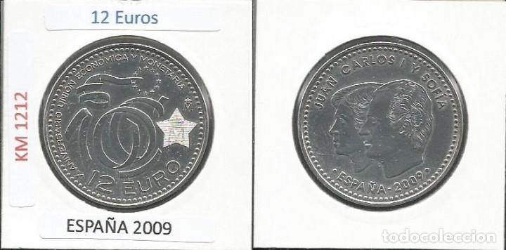 ESPAÑA 2009 - 12 EURO - PLATA - SC- (Numismática - España Modernas y Contemporáneas - Ecus y Euros)