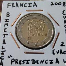 Euros: MONEDA 2 EUROS FRANCIA 2008 PRESIDENCIA MBC ENCARTONADA. Lote 211523449