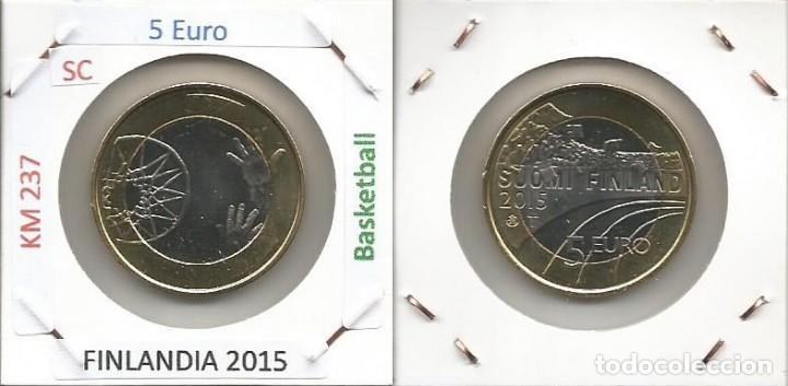 FINLANDIA 2015 - 5 EURO - KM 237 - SC (Numismática - España Modernas y Contemporáneas - Ecus y Euros)