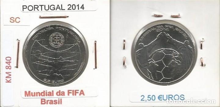 PORTUGAL 2014 - 2,50 EURO - KM 840 - SC (Numismática - España Modernas y Contemporáneas - Ecus y Euros)
