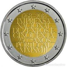Euros: PORTUGAL 2018. 2 EUROS. 250 AÑOS DE LA IMPRENTA NACIONAL. S/C. Lote 195457440