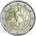 AUSTRIA 2018. 100 AÑOS DE LA REPÚBLICA DE AUSTRIA. S/C (Numismática - España Modernas y Contemporáneas - Ecus y Euros)