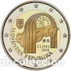 Euros: ESLOVAQUIA 2018. 2 EUROS. 25º ANIVERSARIO DE LA REPÚBLICA ESLOVACA. S/C. Lote 219732461