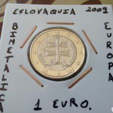 Euros: MONEDA 1 EURO ESLOVAQUIA 2009 MBC ENCARTONADA. Lote 178954827