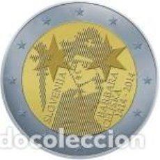Euros: ESLOVENIA 2014. 2 EUROS. 600º ANIVERSARIO DE LA CORONACIÓN DE BARBARA CELJE. S/C. Lote 195457071