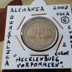 Euros: MONEDA 2 EUROS ALEMANIA 2007 CECA G MBC ENCARTONADA. Lote 194916387