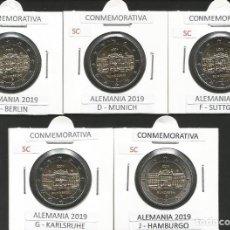 Euros: ALEMANIA 2019 CONMEMORATIVAS - 5 CECAS - SC. Lote 165310892