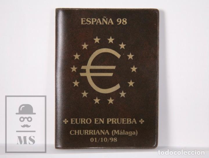 CARTERA EURO EN PRUEBA, CHURRIANA. MÁLAGA, AÑO 1998 / ESPAÑA 98 - SERIE COMPLETA, SIN CIRCULAR (Numismática - España Modernas y Contemporáneas - Ecus y Euros)