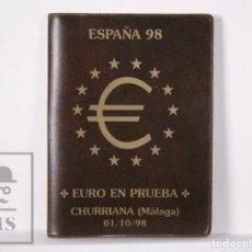 Euros: CARTERA EURO EN PRUEBA, CHURRIANA. MÁLAGA, AÑO 1998 / ESPAÑA 98 - SERIE COMPLETA, SIN CIRCULAR. Lote 163835318