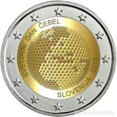 Euros: ESLOVENIA 2 EUROS 2018 DÍA MUNDIAL DE LAS ABEJAS. Lote 176162805