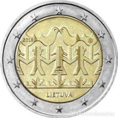 Euros: LITUANIA 2 EUROS 2018 FESTIVAL DE LA CANCIÓN Y LA DANZA LITUANIA 2018. Lote 176162765