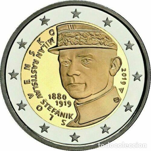 2 EUROS ESLOVAQUIA 2019 MILAN RASTISLAV STEFANIK (Numismática - España Modernas y Contemporáneas - Ecus y Euros)