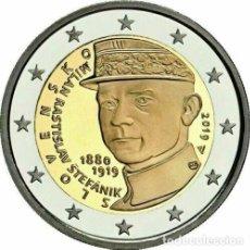 Euros: 2 EUROS ESLOVAQUIA 2019 MILAN RASTISLAV STEFANIK. Lote 164754014
