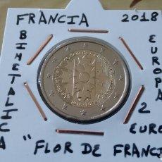 Euros: MONEDA 2 EUROS FRANCIA 2018 FLOR DE FRANCIA MBC ENCARTONADA. Lote 235823745