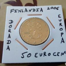 Euros: MONEDA 50 EURO CENT DE FINLANDIA 2006 MBC ENCARTONADA. Lote 191243651