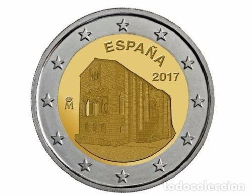 ESPAÑA 2 EURO 2017. IGLESIA SANTA MARIA DEL NARANCO. (Numismática - España Modernas y Contemporáneas - Ecus y Euros)