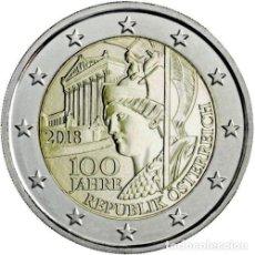 Euros: 2 EURO CONMEMORATIVA AUSTRIA 2018 REPÚBLICA SC. Lote 174999074