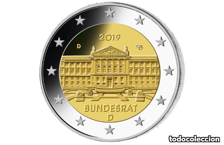 ALEMANIA 2019 2€ BUNDESRAT (Numismática - España Modernas y Contemporáneas - Ecus y Euros)