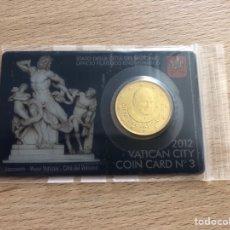 Euros: MONEDA. 50 CTS. EURO. TARGETA. VATICANO. 2012. NO. 3.. Lote 166568738