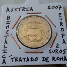 Euros: MONEDA 2€ AUSTRIA 2007 TRATADO DE ROMA MBC ENCARTONADA. Lote 210636857