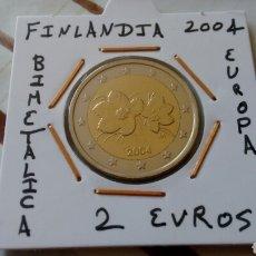 Euros: MONEDA 2 EUROS FINLANDIA 2004 MBC ENCARTONADA. Lote 234462120