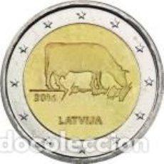 Euros: LETONIA 2016 2 EUROS. SECTOR AGRARIO LETÓN. DE CARTUCHO.. Lote 195436265