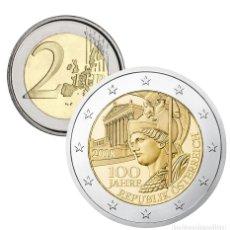 Euros: MONEDA 2 EUROS CONMEMORATIVOS AUSTRIA 2018 - CENTENARIO REPÚBLICA AUSTRIA. Lote 176901533