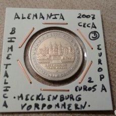 Euros: MONEDA 2 EUROS ALEMANIA 2007 CECA D MECKLENBURG VORPOMMERN MBC ENCARTONADA. Lote 205825238