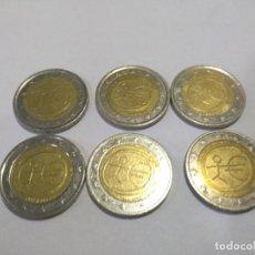 Euros: 6 MONEDAS 2€ CONMEMORATIVAS DEL EMU. Lote 167546728