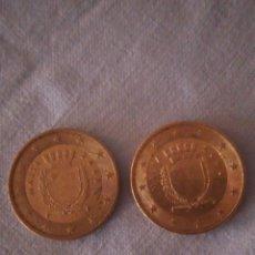 Euros: LOTE DE 2 MONEDAS DE 50 CÉNTIMOS DE EURO ,MALTA 2008. Lote 167751892