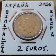 Euros: MONEDA 2 EUROS ESPAÑA 2016 EBC ENCARTONADA. Lote 194916218