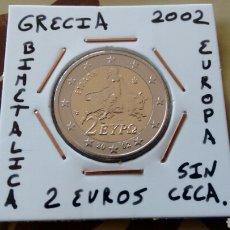 Euros: MONEDA 2 EUROS GRECIA 2002 SIN CECA MBC ENCARTONADA. Lote 210636361