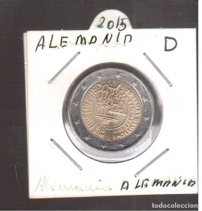 EUROPA 2 EUROS DE ALEMANIA 2015 D LA QUE VES (Numismática - España Modernas y Contemporáneas - Ecus y Euros)