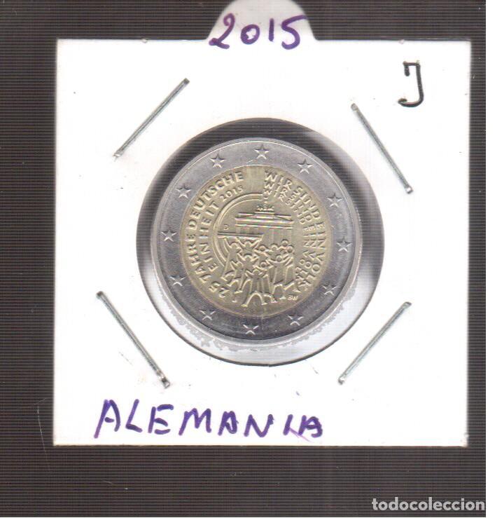 EUROPA 2 EUROS DE ALEMANIA 2015 J LA QUE VES (Numismática - España Modernas y Contemporáneas - Ecus y Euros)