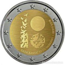 Euros: ESTONIA 2 EUROS 2018 100 AÑOS DE LA REPÚBLICA DE ESTONIA. Lote 169013276