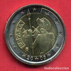 Euros: MONEDA DE 2 EUROS ESPAÑA CONMEMORATIVA 2005 DON QUIJOTE NUEVA DE CARTUCHO, ORIGINAL. Lote 246326715