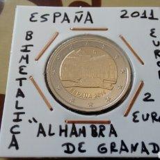 Euros: MONEDA 2 EUROS ESPAÑA 2011 ALHAMBRA GRANADA MBC ENCARTONADA. Lote 169301298