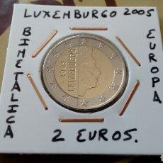 Euros: MONEDA 2 EUROS LUXEMBURGO 2005 MBC ENCARTONADA. Lote 210657022