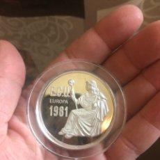 Euros: MEDALLA DE PLATA, ECU EUROPA 1981. Lote 169457038