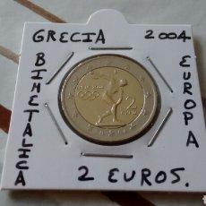 Euros: MONEDA 2 EUROS GRECIA 2004 JJOO MBC ENCARTONADA. Lote 235823915