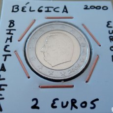 Euros: MONEDA 2 EUROS BÉLGICA 2000 MBC ENCARTONADA. Lote 170005598
