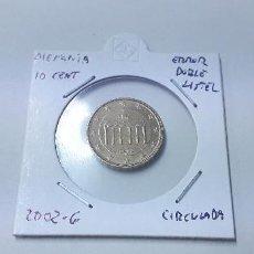Euros: 10-00219 ALEMANIA-10 CENT € -2002 G - DOBLE LISTEL EN AMBAS CARAS. Lote 170025896