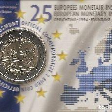 Euros: BELGICA 2019. COINCARD DE 2 EUROS CONMEMORATIVO DEL 25 ANIVERSARIO DEL EMI. VERSION ALEMANA. Lote 206300946