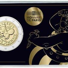 Euros: FRANCIA 2 EUROS 2019 60 AÑOS DE ASTÉRIX COINCARD OBELIX. Lote 206152326