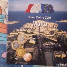 Euros: CARTERA EUROS MALTA AÑO 2008 SIN CIRCULAR --- LLEVA DOS SELLOS. Lote 171085239