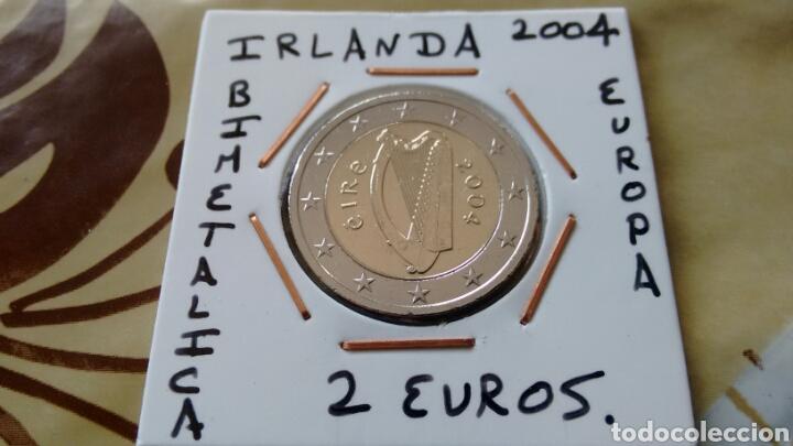 MONEDA 2 EUROS IRLANDA 2004 MBC ENCARTONADA (Numismática - España Modernas y Contemporáneas - Ecus y Euros)