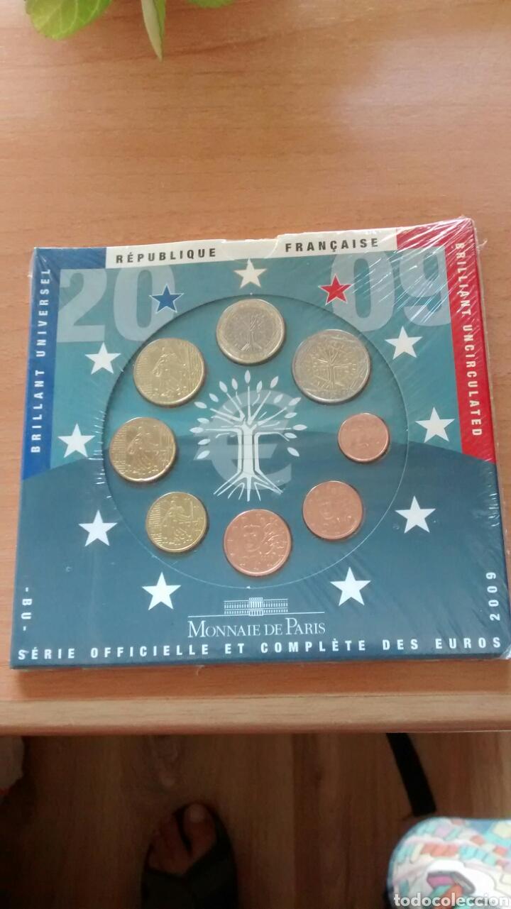 CARTERA EUROS FRANCIA AÑO 2009 (Numismática - España Modernas y Contemporáneas - Ecus y Euros)