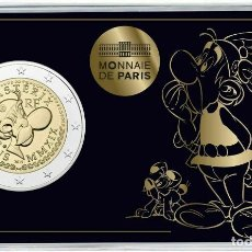 Euros: FRANCIA 2 EUROS 2019 60 AÑOS DE ASTÉRIX COINCARD ASTERIX E IDEFIX. Lote 182053887